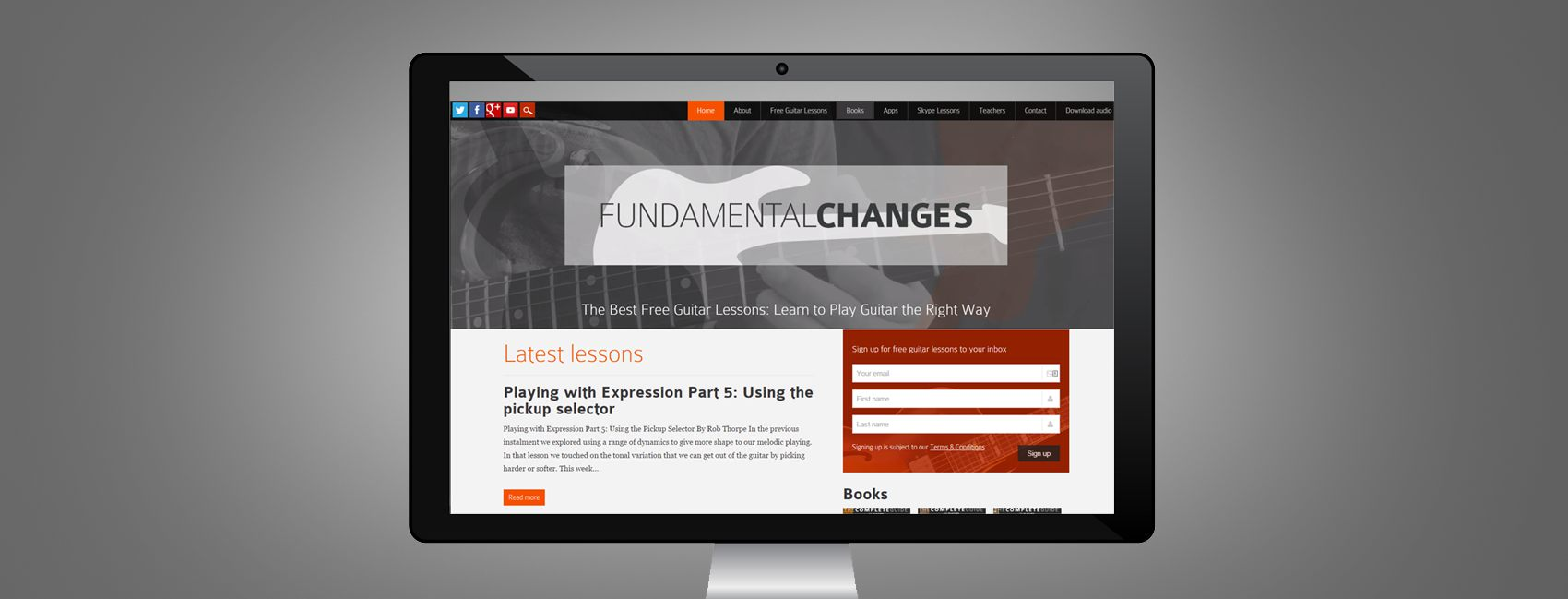 web design for fundamental changes screenshot
