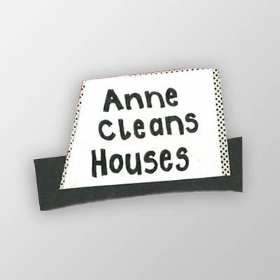 Anne cleans