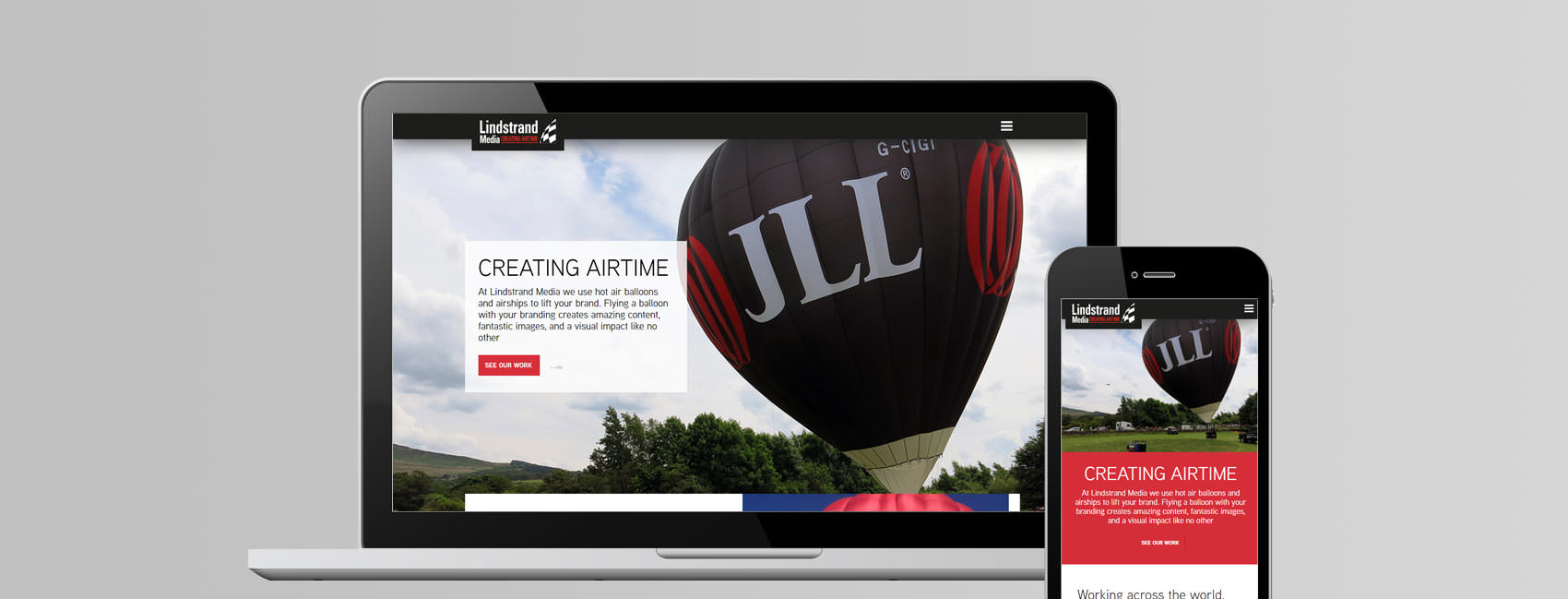 lindstrand media marketing website